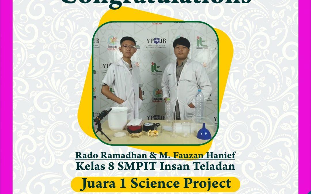 JuaRA 1 Dalam Lomba Science Project El-Fitra Competition SMP Sederajat Se-Bandung Raya 2021